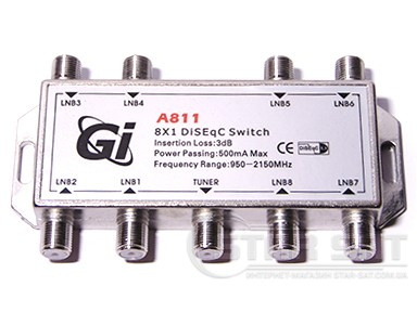 DiSEqC Switch 8 in 1 GI-A811