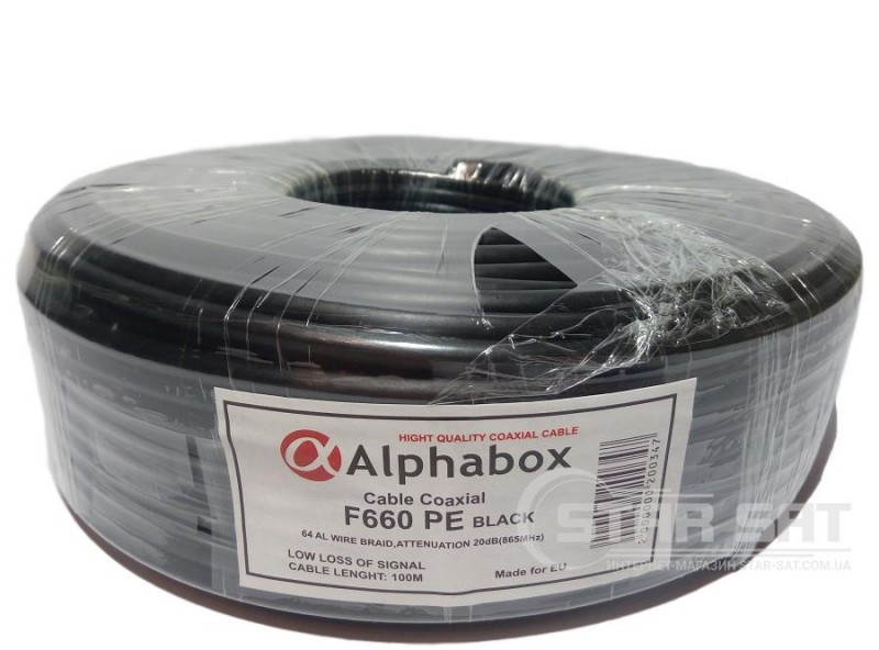 ALPHABOX F660 PE 100m Black
