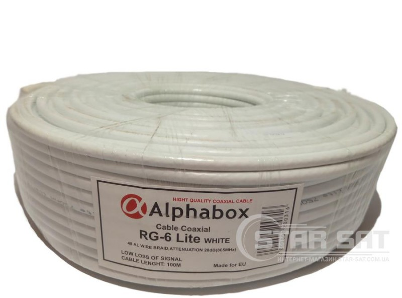 ALPHABOX RG-6 100m Lite WHITE