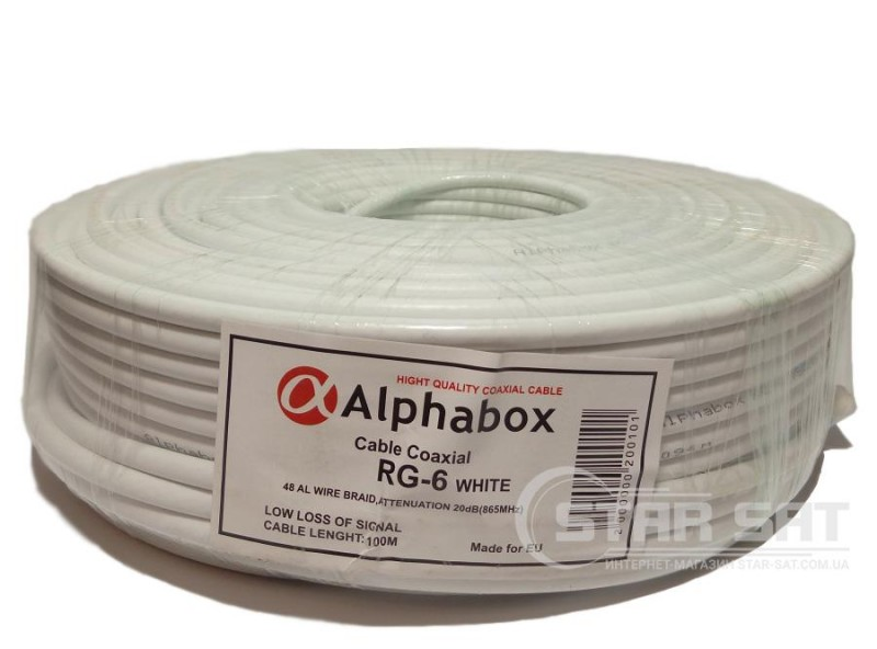 ALPHABOX RG-6 100m White