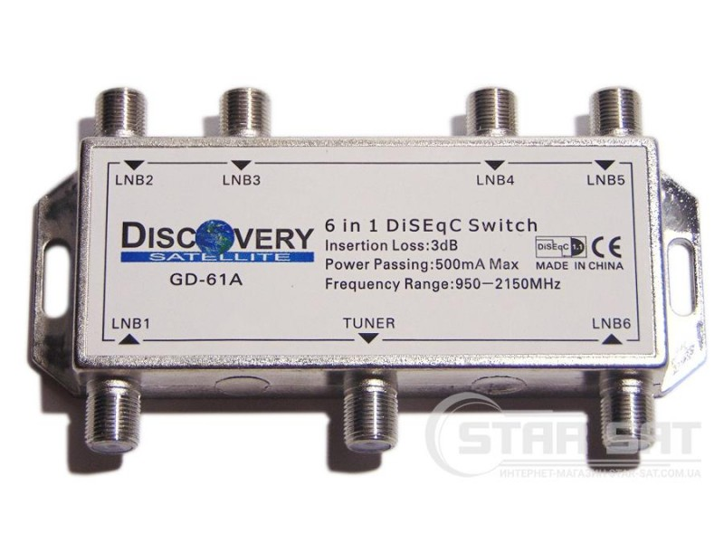DiSEqC 6 in 1 Discovery GD61-A