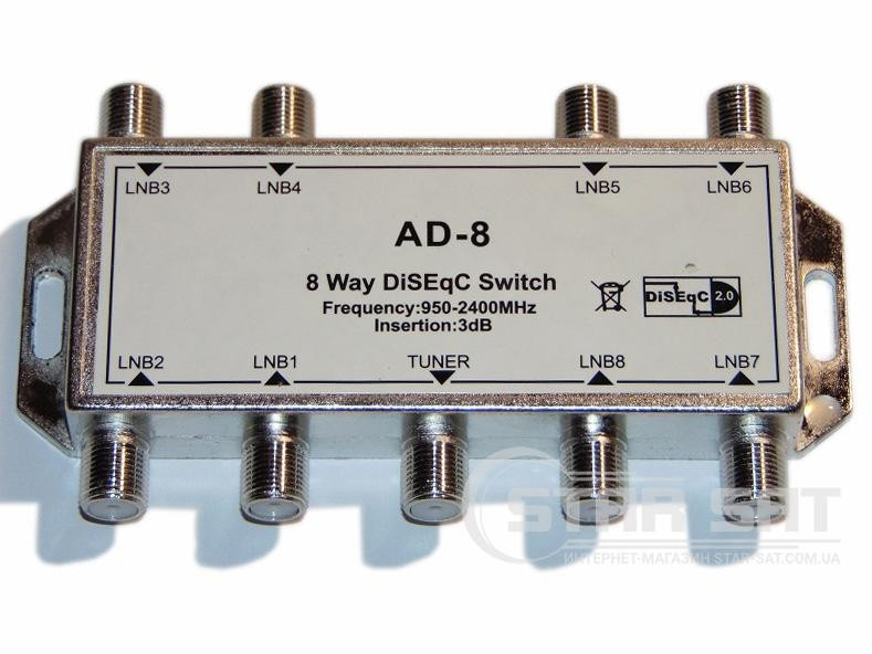 DiSEqC Switch 8 in 1 Alphabox AD-8